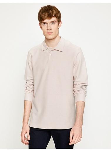 Koton Polo Yaka Sweatshirt Pembe